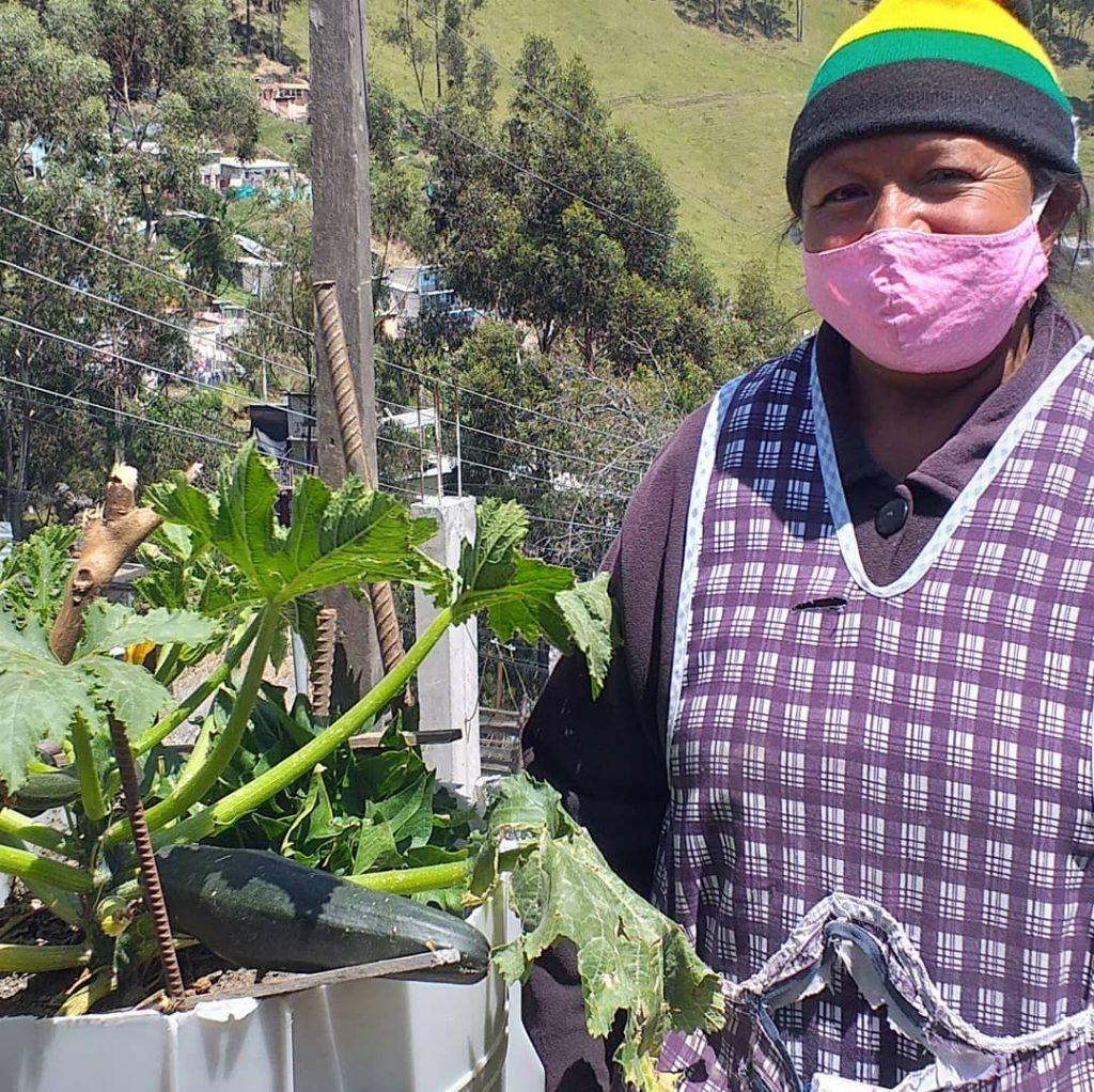 Las mujeres ven en esta práctica sostenible una forma de tener seguridad alimentaria